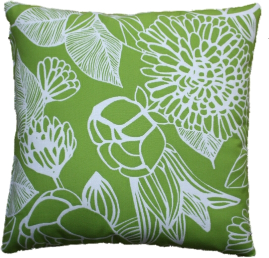 Silhouette Lime Cushion