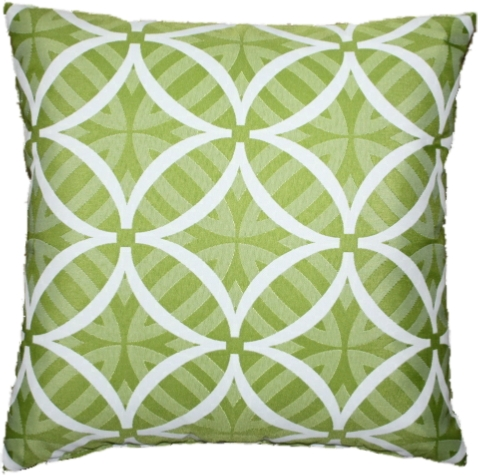 Coolum Lime Reverse Cushion