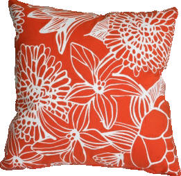 Silhouette Cushion Persimmon